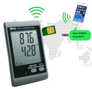 Jual GSM SMS Alarm Temperature and Humidity Data logger AMT-138