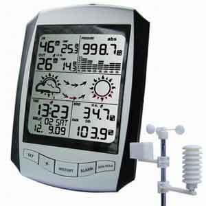Jual Wireless Professional Weather Station with RCC Clock AW001