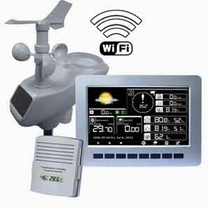 Jual Wireless Professional Weather Station with WIFI and TFT Color Display AW003